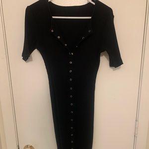 Vintage Fashion Nova Short Sleeve Midi Dress